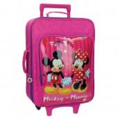 Disney Mickey + Minnie 2-kerekes gyermekbőrönd 50 cm